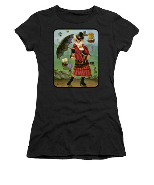 Steampunk Cat Gal - Victorian Cat Women's T-Shirt