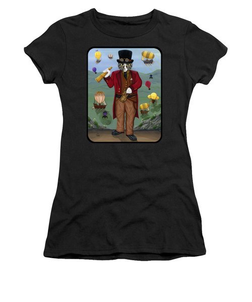 Steampunk Cat Guy - Victorian Cat Women's T-Shirt