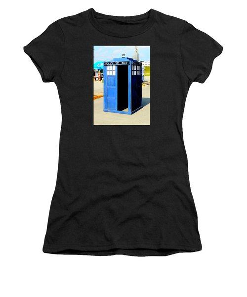 Steampunk Tardis Women's T-Shirt (Junior Cut) by Justin Moore