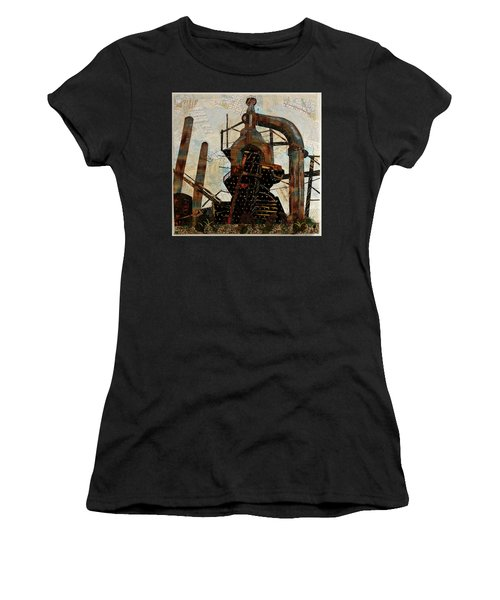 Steel Stacks Squared Women's T-Shirt (Athletic Fit)