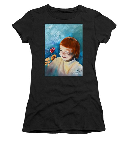 Stefi- My Trip To Holland - Red Headed Angel Women's T-Shirt
