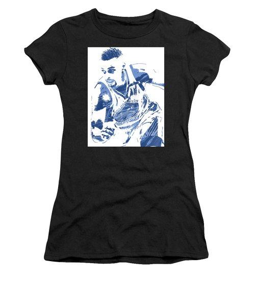 Stephen Curry Golden State Warriors Pixel Art 8 Women's T-Shirt