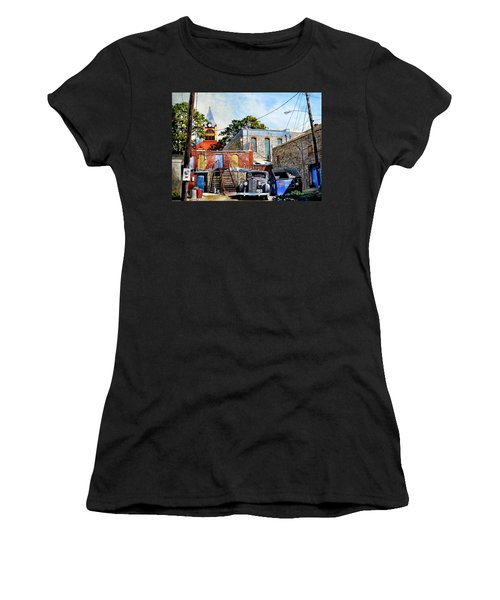 Stephenville Alley  Women's T-Shirt (Athletic Fit)