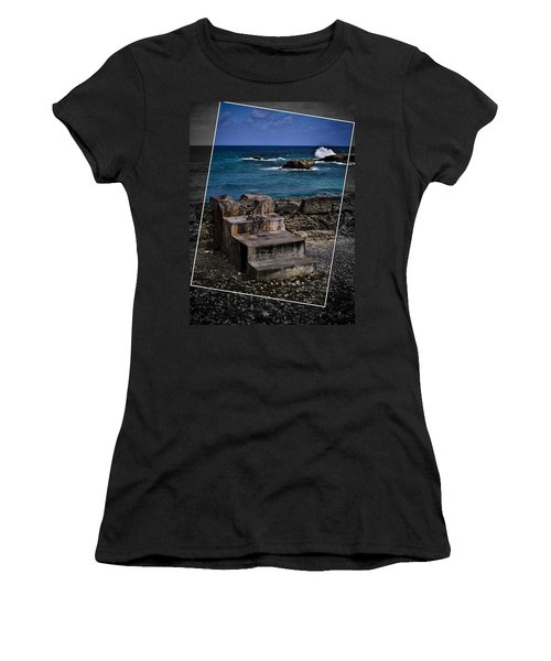 Steps To The Ocean2 Women's T-Shirt (Athletic Fit)