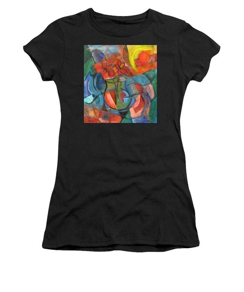 Still Life-flowers With Fruit Women's T-Shirt