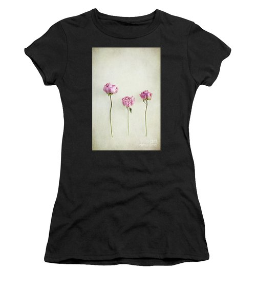 Still Life Of Dried Peonies With Texture Overlay Women's T-Shirt