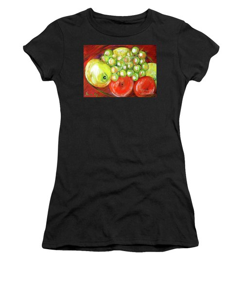 Still Life With Fruit. Painting Women's T-Shirt (Athletic Fit)