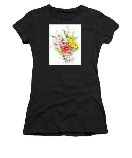 Still Life With Red Zinnia Women's T-Shirt