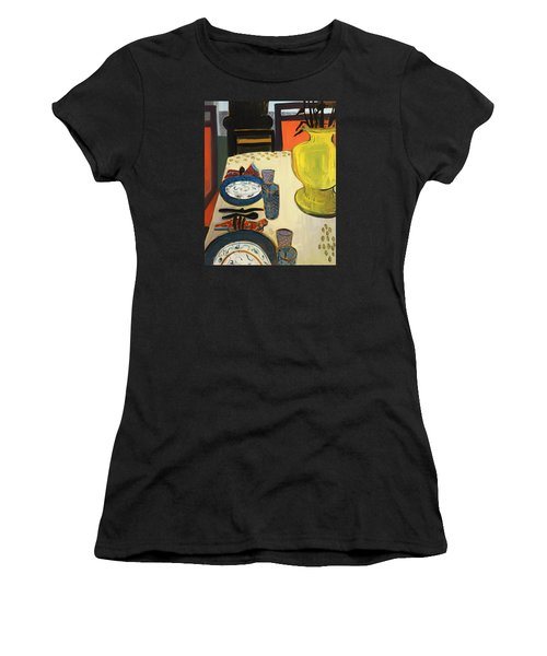 Still Life With Two Plates Women's T-Shirt (Athletic Fit)