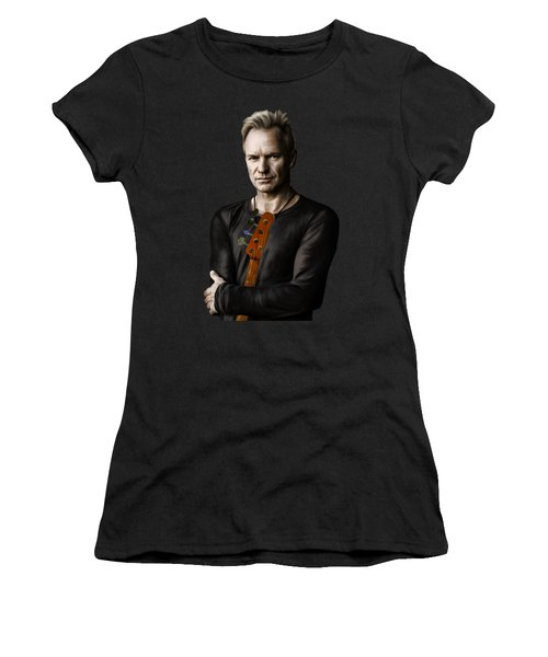 Women's T-Shirt (Junior Cut) featuring the digital art Sting by Andrzej Szczerski
