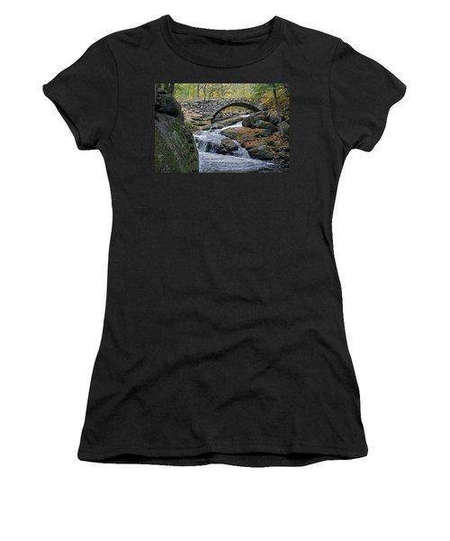 Stone Arch Bridge In Autumn Women's T-Shirt