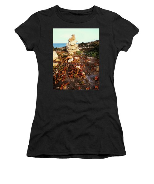 Women's T-Shirt (Athletic Fit) featuring the photograph Stone Balance by Lucia Sirna
