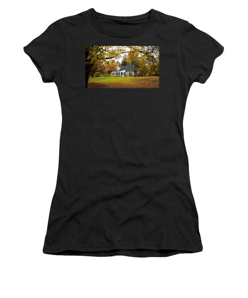 Stone Cottage In The Fall Women's T-Shirt