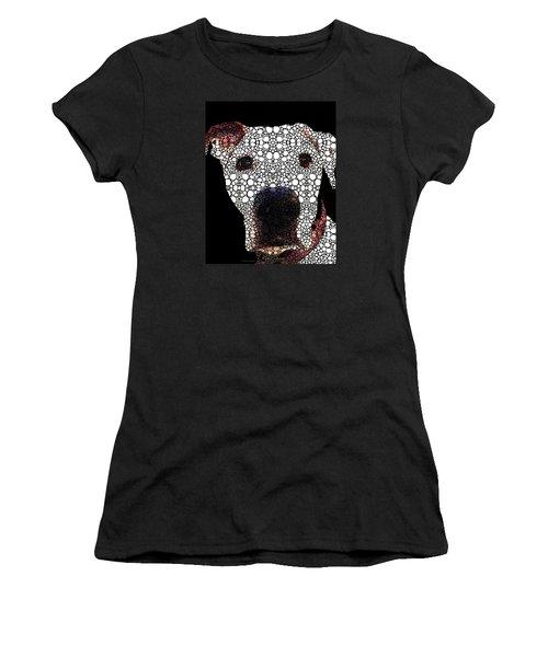 Stone Rock'd Dog 2 By Sharon Cummings Women's T-Shirt