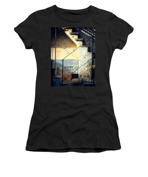 Stone Steps Outside An Old House Women's T-Shirt (Athletic Fit)