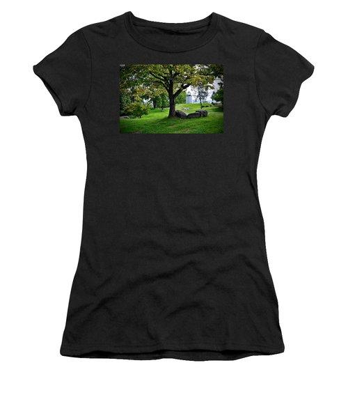 Stony Point Landscape Women's T-Shirt (Athletic Fit)