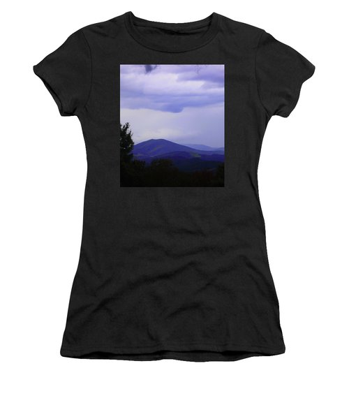 Storm At Lewis Fork Overlook 2014a Women's T-Shirt (Athletic Fit)