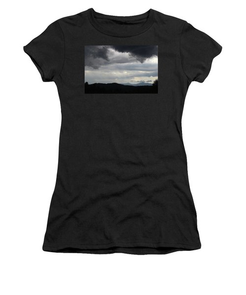 Storm At Lewis Fork Overlook 2014b Women's T-Shirt (Athletic Fit)