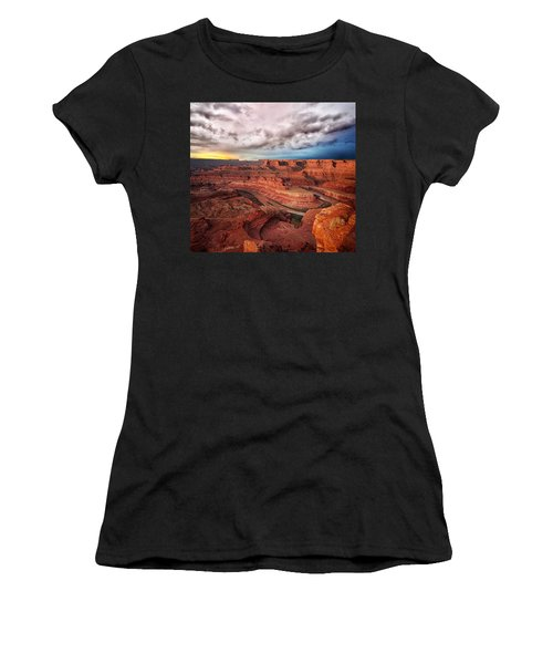 Storm Over Dead Horse Point Women's T-Shirt (Athletic Fit)