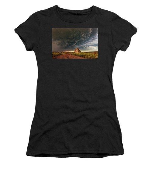Storm Over Dinosaur Women's T-Shirt