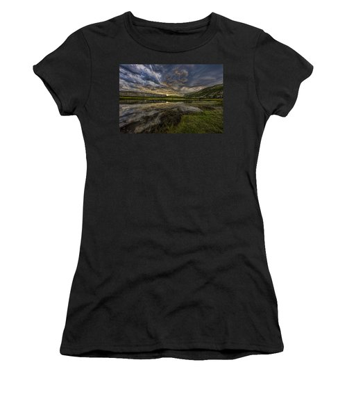 Storm Over Madison River Valley Women's T-Shirt (Athletic Fit)