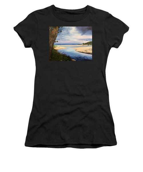 Storm Over Moona Moona Creek Women's T-Shirt (Athletic Fit)