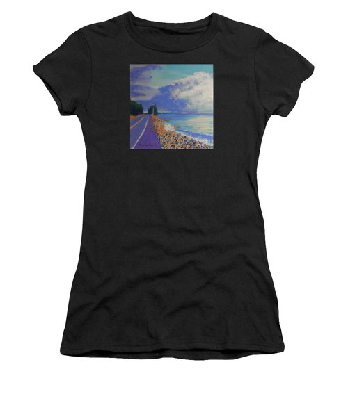 Storm Over Queensland Beach Women's T-Shirt (Athletic Fit)