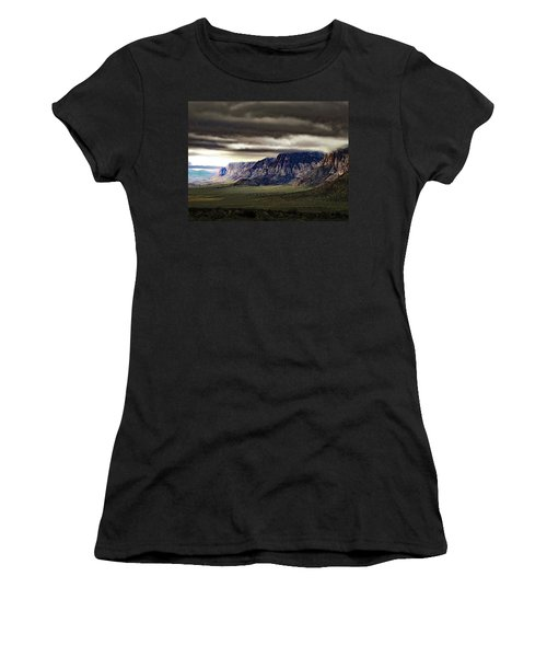 Stormy Morning In Red Rock Canyon Women's T-Shirt (Junior Cut) by Alan Socolik
