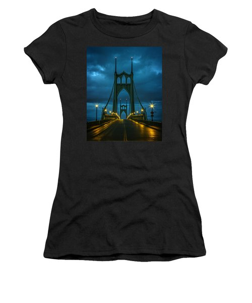 Stormy St. Johns Women's T-Shirt (Junior Cut) by Wes and Dotty Weber