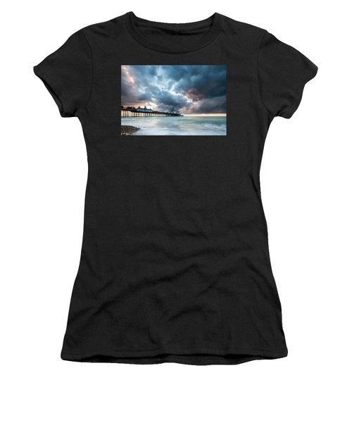 Stormy Sunrise Over Eastbourne Pier Women's T-Shirt