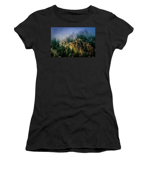 Stormy Wasatch- Fog Women's T-Shirt (Athletic Fit)