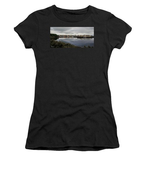Women's T-Shirt (Athletic Fit) featuring the photograph Stornoway Panorama by Rasma Bertz