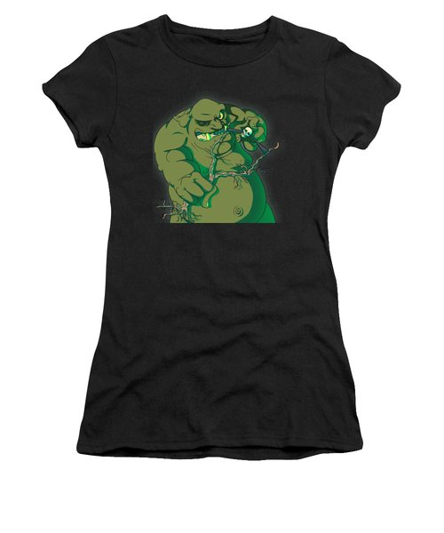 Storybook Ogre Shooting Heads Women's T-Shirt (Athletic Fit)