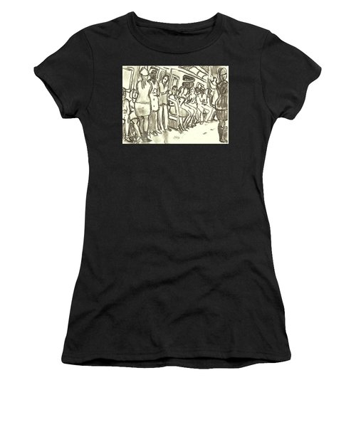 Strap Hangers, Nyc Subway Women's T-Shirt (Athletic Fit)