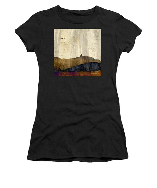 Strata With Lighthouse And Gull Women's T-Shirt