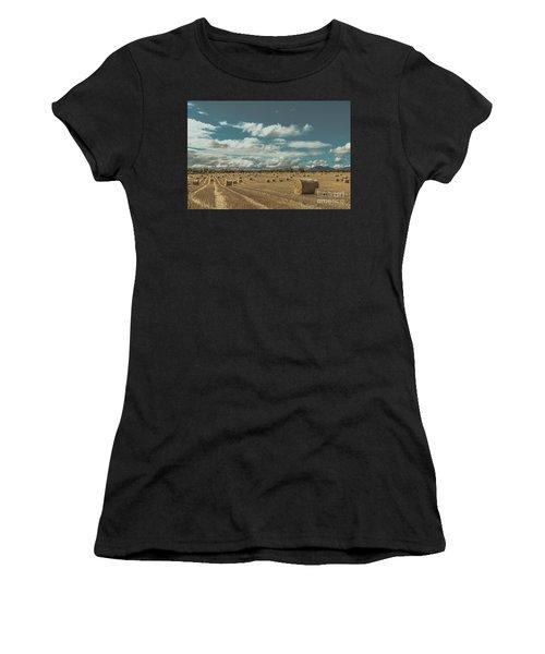 Straw Bales In A Field 3 Women's T-Shirt