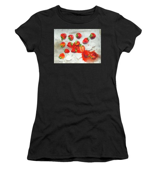 Strawberries On Paper Towel Women's T-Shirt