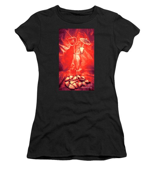 Straweberry Tropical Cocktail Drink Women's T-Shirt (Athletic Fit)