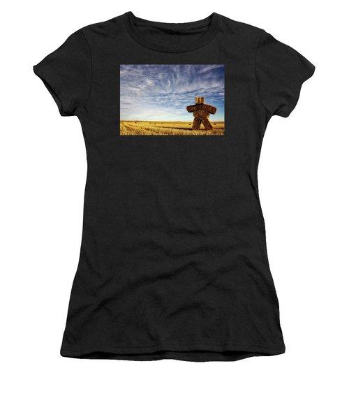 Strawman On The Prairies Women's T-Shirt