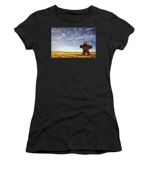 Strawman On The Prairies Women's T-Shirt