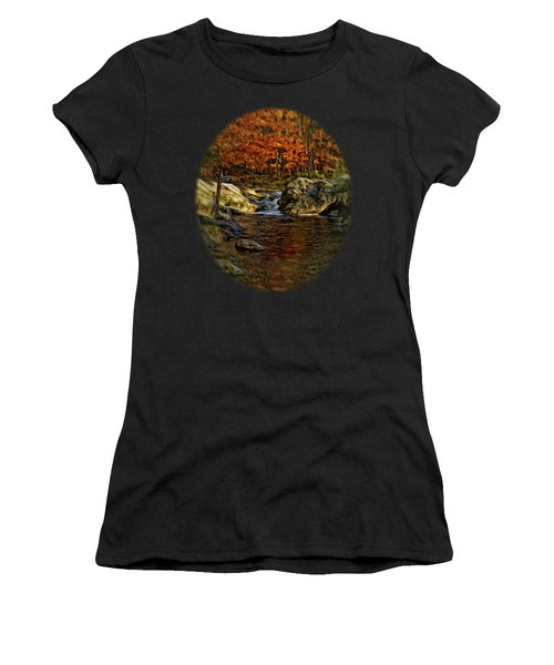 Stream In Autumn 57 In Oil Women's T-Shirt (Athletic Fit)