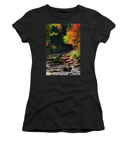 Women's T-Shirt (Junior Cut) featuring the photograph Stream by Tom Prendergast