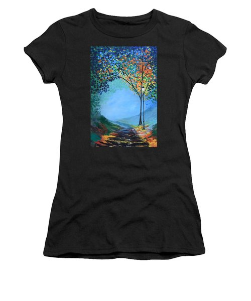 Street Lamp Women's T-Shirt (Athletic Fit)