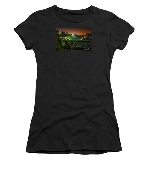 Street Light On Rogue River Bridge Women's T-Shirt (Athletic Fit)