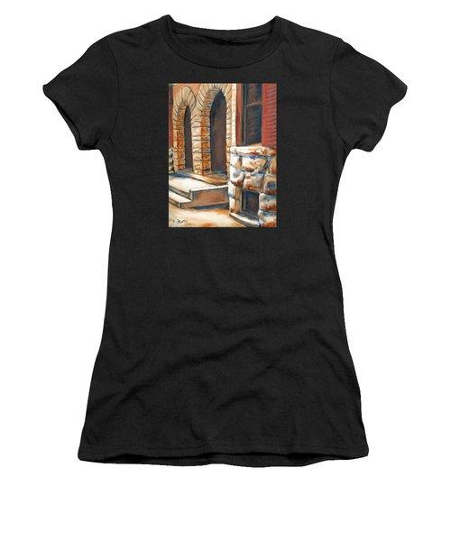 Street Scene Oil Painting Women's T-Shirt