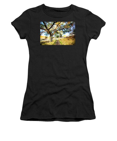 Strolling Down The Path Women's T-Shirt (Athletic Fit)