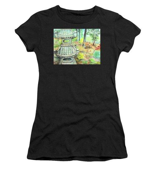 Strolling Through The Japanese Garden Women's T-Shirt