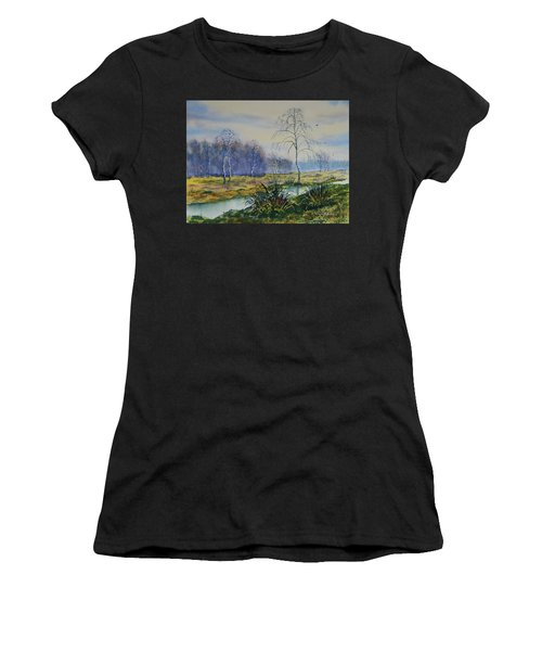 Stream In Flood On Strensall Common Women's T-Shirt