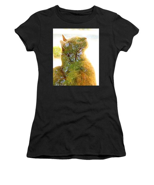 Stuck In Cat Women's T-Shirt (Athletic Fit)