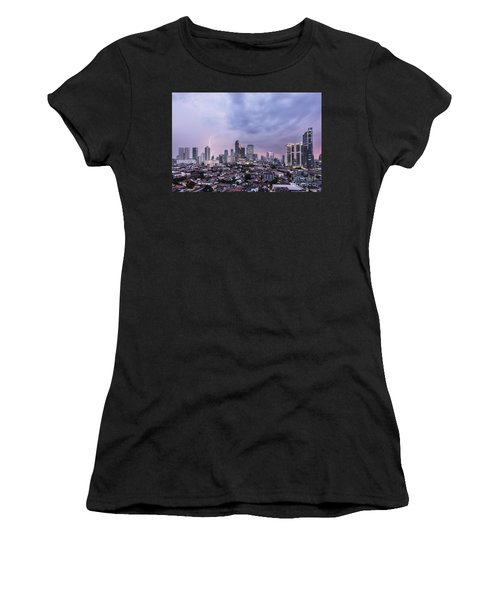 Stunning Sunset Over Jakarta, Indonesia Capital City Women's T-Shirt
